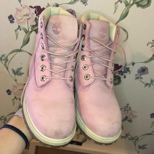 Baby pink timberlands